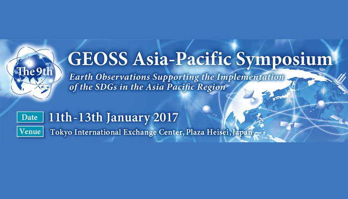 Announcement of 9th GEOSS  Asia-Pacific Symposium, to be held in Tokyo, Japan, from 11-13 January, 2017